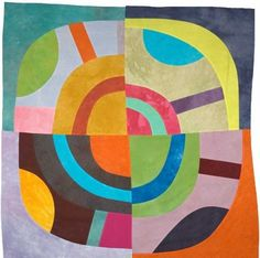 Textile art by Lisa Call. Circle Quilts, Quilt Modernen, Ecole Art, Contemporary Quilts, Art Plastique, Quilting Designs, Art Quilting, Textures Patterns, Textile Art