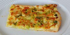 Porretærte med butterdej Vegetarian Recipes, Healthy Recipes, Healthy Foods, Danish Food, Chiropractic Wellness, Quiche, Feta, Tapas, Pizza