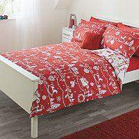 George Home Red Christmas Print Duvet Range | Bedding | ASDA direct