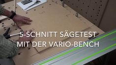 made a test to check the sawing accuracy possible with the vario bench. Result is impressive: less than mm error on average at length of 52 cm ! Multifunctional, Innovation, Bench, Woodworking, Wood Work, Check, Pictures, Deutsch, Workshop