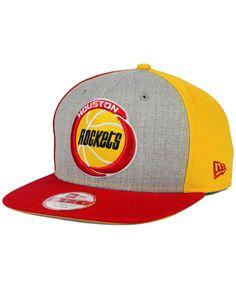 New Era Houston Rockets Tri-Top 9FIFTY Snapback Cap Houston Rockets 87004a35be5