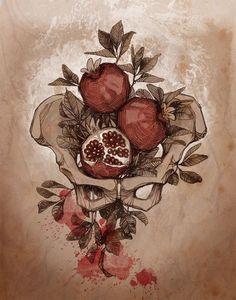 hades and persephone Greek Mythology Tattoos, Greek Mythology Art, Pomegranate Tattoo, Hades Tattoo, Greek Gods And Goddesses, Hades And Persephone, Goddess Art, Art Inspo, Art Reference