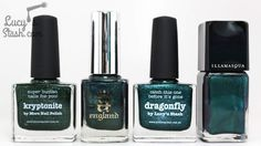 Hello lovelies, Many of you have been asking if my collaboration shade Dragonfly is the same as A England Saint George - it really isn't. Let's have a look: So as you can see, Dragonfly is a lighter shade of green teal whereas Saint George is quite dark...