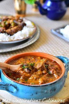 Khoresht Bademjan ragout d'aubergines et agneau Meat Recipes, Indian Food Recipes, Healthy Dinner Recipes, Vegetarian Recipes, Cooking Recipes, Ethnic Recipes, Exotic Food, Batch Cooking, International Recipes