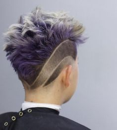 men's Mohawk with shaved designs