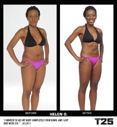 Helen wanted to tighten up all over. After 10 weeks of #FocusT25, her transformation is awesome!  http://bit.ly/GETFOCUST25