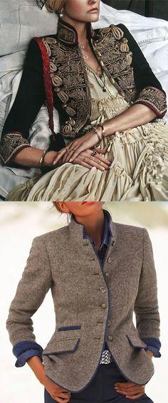 Hot Sale Women Vintage Style Blazer Jackets