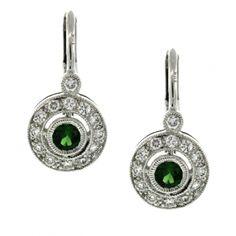 Tsavorite Garnet and Diamond Earrings Garnet, Diamond Earrings, Collection, Fashion, Grenada, Diamond Studs, Moda, La Mode, Fasion