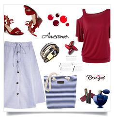 """""""ROSEGAL 7/90"""" by samra-dzabija ❤ liked on Polyvore featuring L.A. Girl and Guerlain"""