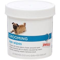 Petco Grooming Eye Wipes for Dogs - http://www.thepuppy.org/petco-grooming-eye-wipes-for-dogs/