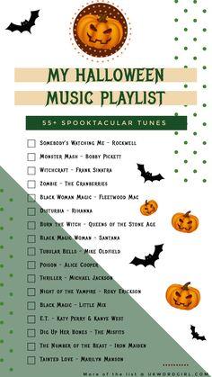 My Halloween Music Playlist - UKWordGirl