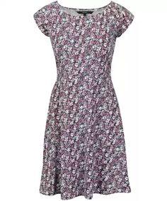 Fialovo-modré kvetinové šaty VERO MODA Jane