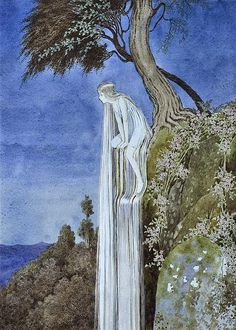 The Waterfall Fairy by Ida Rentoul Outhwaite - from The Enchanted Forest', 1921.