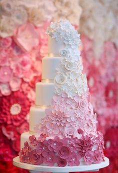 Ombre cake design