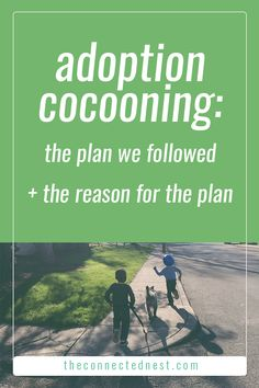 adoption cocooning: the plan we followed + the reason for the plan