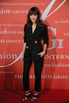 The Look: A boyish blazer suit adorned with eye-catching brooch detail.   - MarieClaire.com