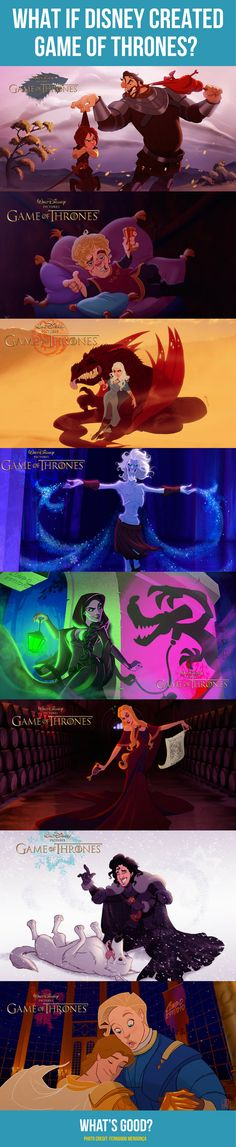 What if Disney created Game Of Thrones characters? 9 funny photos of GOT cast. Artwork includes Disney inspired humor.