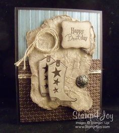 """By Rebecca Mayse. Uses stamps from """"Bootiful Occasions"""" by Stampin' Up."""