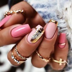 Summer Acrylic Nails, Best Acrylic Nails, Acrylic Nail Designs, Foil Nail Designs, Square Nail Designs, Short Nail Designs, Best Nail Designs, Short Square Nails, Short Nails