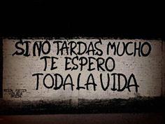 Si no tardas mucho te espero toda la vida #lavidaesarte #paredes