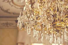 Is there anything more romantic than a glittering crystal chandelier? Chandelier at Wrest Park, near Silsoe, Bedfordshire, England. Princess Aesthetic, Disney Aesthetic, Josephine Montilyet, Wallpaper Rosa, Ella Enchanted, Gold Aesthetic, Belle Aesthetic, Tale As Old As Time, Tumblr