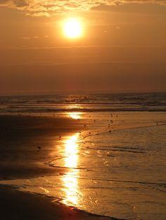 Wildwood Crest beach in NJ  - Sunrise...