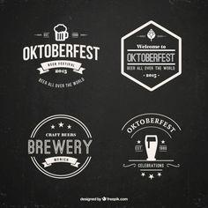 conjunto distintivo oktoberfest Vetor grátis