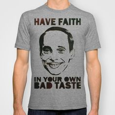 JOHN WATERS and BAD TASTE T-shirt by Mr Mahaffey - $22.00 Divine Pink Flamingos