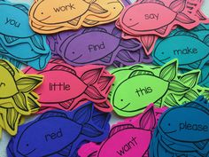 Engage and differentiated with Astrobrights and color using this free editable sight word fishing activity.