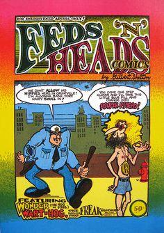 """""""Feds 'N' Heads"""", 1970 Gilbert Shelton"""