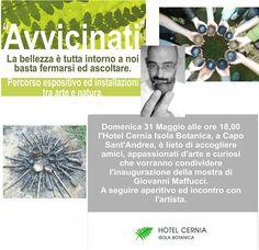Esposizione Isola botanica Hotel Cernia, Isola d'Elba. 2015 Eventi Giovanni Maffucci