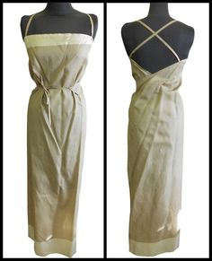 http://www.ebay.co.uk/itm/180971979473  ~~~~Nicole Fahri Long Wrapover Dress Khaki Green with block printed contrast.    - 100% Silk.