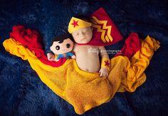 Wonder Women Newborn Superhero Costume for Girl - Photography Prop - DC Comics - Girl Superhero - Comic Book Character - Halloween