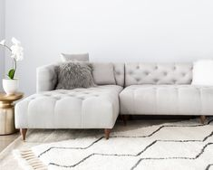 Chesterfield is a lighter, softer take on the classic Chesterfield sofa. The custom sectional sofa is a statement peice that can be customized to suit any room. Diy Sofa, Sofa Design, Tan Leather Sofas, Living Colors, Interior Rugs, French Interior, Cafe Interior, Interior Design, Types Of Sofas