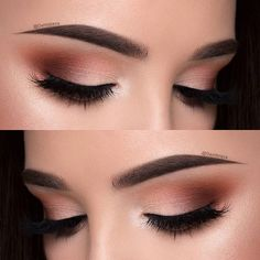 Tutorial on this look is now on my YouTube channel  Hit the link in my instagram bio to watch it  No eyeliner included ✌ To create this look I used: @makeupgeekcosmetics eyeshadows in shades - peach smoothie,morocco,cocoa bear and shimma shimma @sweetheartlashes in the style Charlotte  @anastasiabeverlyhills dipbrow pomade in medium brown for the eyebrows