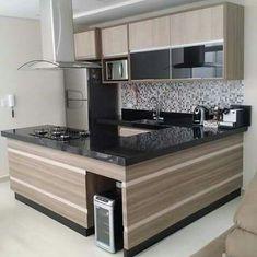 Kitchen Dinning, Home Decor Kitchen, Kitchen Furniture, Kitchen Interior, Kitchen Colour Combination, Minimalist Kitchen, Beautiful Kitchens, Kitchen Remodel, Sweet Home