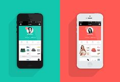 Flat Profile for Social Fashion Network - iOS app by Helder Leal When I saw this my mind went to another Fashion Social Network (NAP)...but this one, actually, has a UI (and a beautiful one)...the other one no...