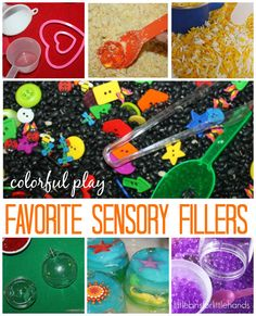 Favorite Sensory Bin Fillers Simple Hands-On Sensory Play for Kids We have tried so many sensory bin fillers that are common to find and inexpensive as well. I like fillers I can easily store after play time is done and are easy to take back out again. Below you will find some of the sensory ...