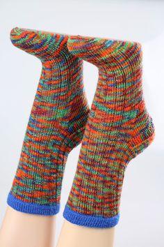 Handgestrickte+Socken+Gr.+38/39++von+Wollwerkstatt+auf+DaWanda.com