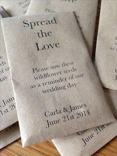 Cost Effective Wedding Favor Gift! Personalised Seeds. Vintage!