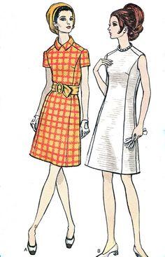 des années 60 robe modèle Vogue 7473 Mod par NeenerbeenerKnits