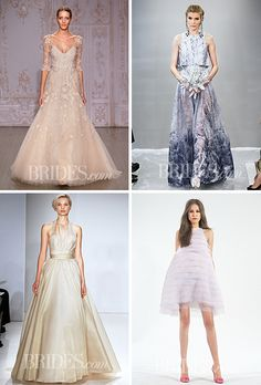 Brides.com: 61 Colorful Wedding Dresses That Prove You Don't Have to White  Photos (clockwise from top left): Mateo Volta/ImaxTree.com, Robert Mitra, John Aquino and Steve Eichner, Mateo Volta/ImaxTree.com
