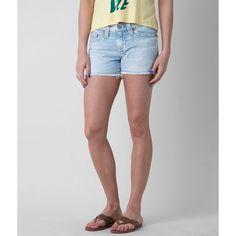 Big Star Vintage Alex Stretch Short ($59) ❤ liked on Polyvore featuring shorts, blue, big star, stretchy shorts, frayed shorts, stretch shorts and big star shorts