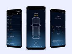 Mercedes Me App designed by Nika. Connect with them on Dribbble; App Ui Design, Web Design, Car Animation, Car App, Ui Inspiration, Interactive Design, Simple, Home, Design Web