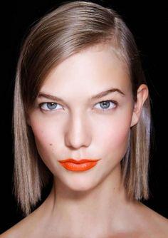 2016 Beauty Trends: Bold Orange Lips.