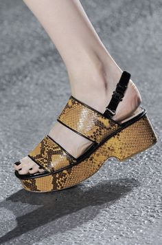 See Miu Miu, Louis Vuitton, Chanel, and More Shoes Straight From Paris!: Guy Laroche Spring 2014: Dries Van Noten Spring 2014