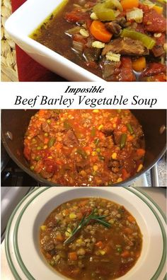 Can I offer you a warm bowl of Beef and Barley Vegetable Soup? I recently made this soup on a rare cold and dreary day here in sunny Arizona. Slow Cooker Chicken Healthy, Healthy Beef Recipes, Roast Beef Recipes, Beef Recipes For Dinner, Vegetarian Recipes, Cooking Recipes, Crockpot Recipes, Best Beef Stroganoff, Beef Barley