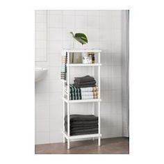 IKEA - DYNAN, Scaffale con portasciugamani, , Un prodotto, due funzioni: scaffali a giorno per gli asciugamani di riserva e bastone appendiabiti per quelli che stai utilizzando.Tra i ripiani puoi sistemare fino a 8 asciugamani.Puoi creare velocemente una combinazione di diversi scaffali poiché sono facili da montare e smontare.Lo scaffale è largo e poco profondo: ti offre tanto spazio per organizzare ogni cosa e ne occupa poco sul pavimento.I piedini regolabili compensano eventuali…