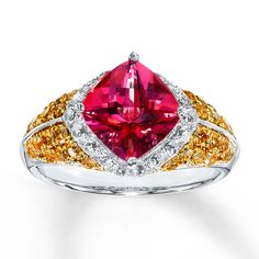 pink and yellow topaz