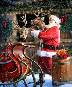 I love this kind of Christmas pictures so much! what kind of picture. - Happy Christmas - Noel 2020 ideas-Happy New Year-Christmas Christmas Past, Father Christmas, Christmas Pictures, Winter Christmas, Christmas Cards, Vintage Christmas Photos, Xmas, Saint Nicolas, Santa Claus Is Coming To Town